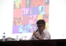 Prof. Dr. César Guimarães (UFMG/Belo Horizonte) na conferência de abertura